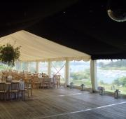 Timber floor with starlight linings and mirror ball