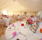 Bright frame marquee interior