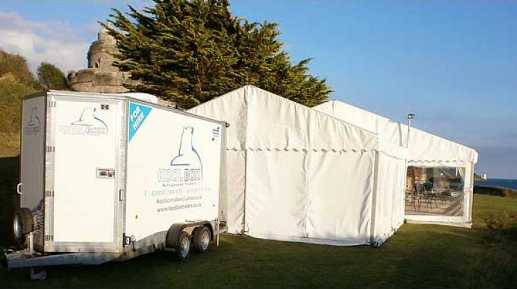 Wedding refridgerated trailer